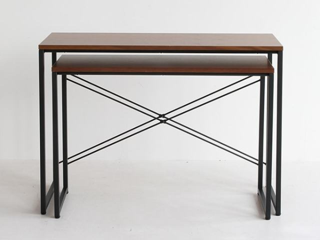 インダストリアルな鉄脚ネストテーブル(デスク)