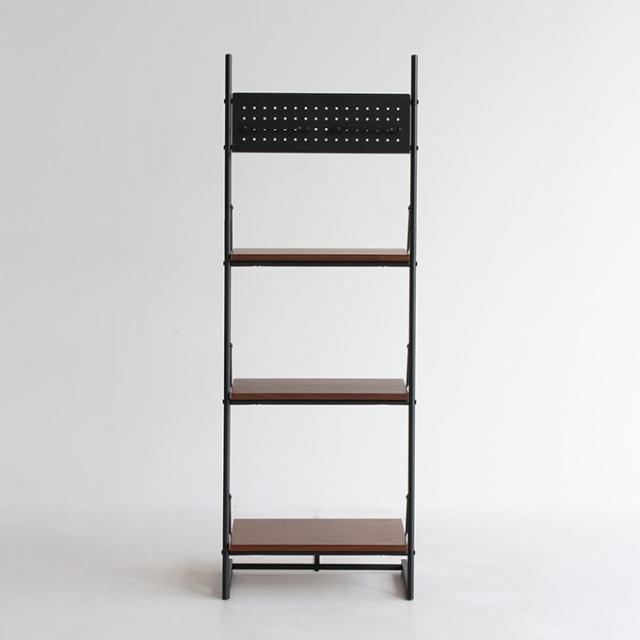 ウォルナット棚板と鉄脚のフリーラック幅46cm
