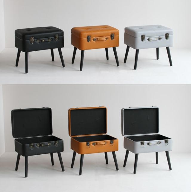小物を収納できる椅子 カラー3色