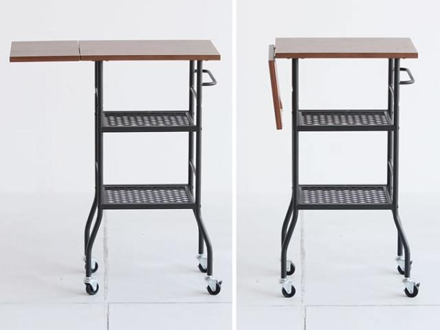 ワゴンテーブル 黒鉄脚