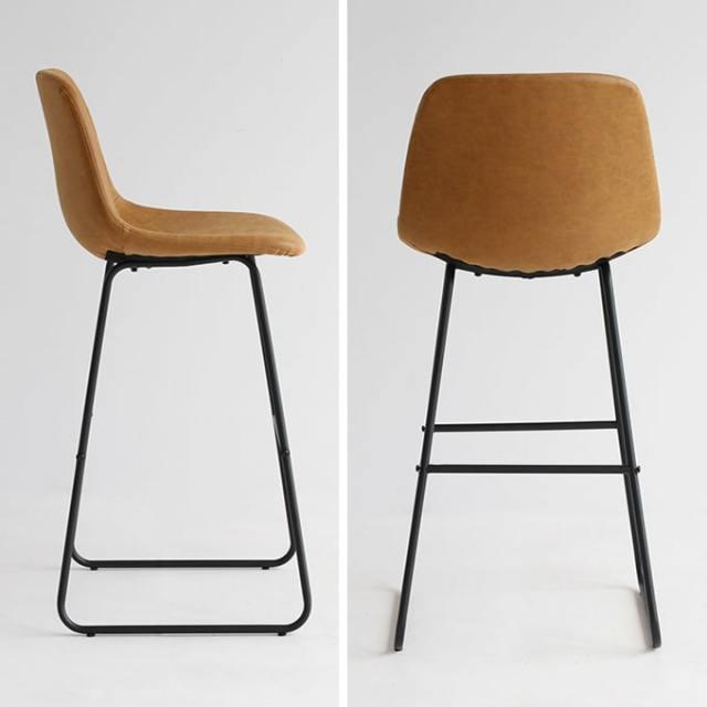 バースツール 椅子キャメル色