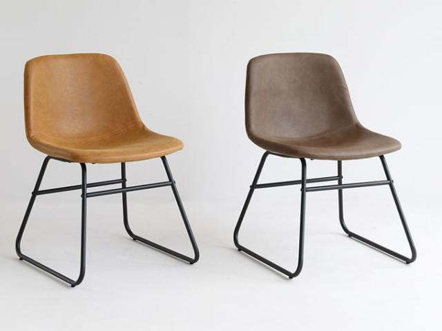 色違いが可愛い椅子 ブラウンとキャメル