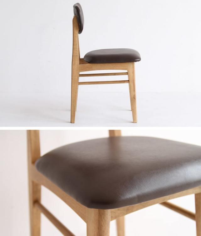 レトロな木製椅子 ダークブラウン