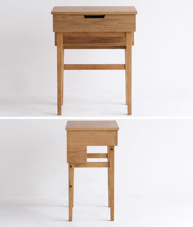 ナチュラルな木製ドレッサー