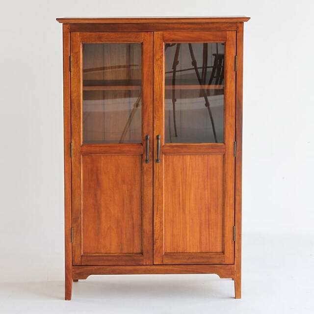 マホガニー製ガラス戸棚