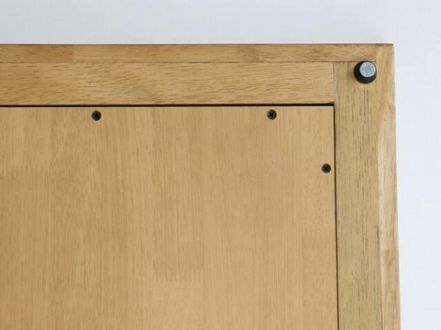 木枠の鏡 裏面