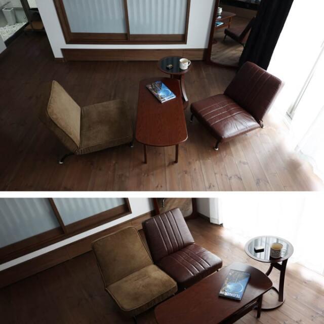 シングルソファ リクライニングできる椅子