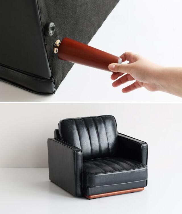 床置きでも使える1人掛けソファ