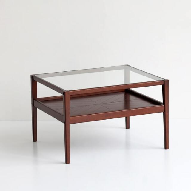 ガラス天板コーヒーテーブル ミッドセンチュリー