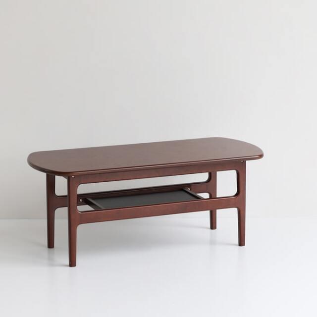 レトロな木製センターテーブル