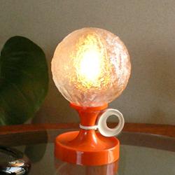 lt0052オランダのレトロなオレンジ色テーブルライト*amber design*北欧家具やビンテージ雑貨等のインテリア通販