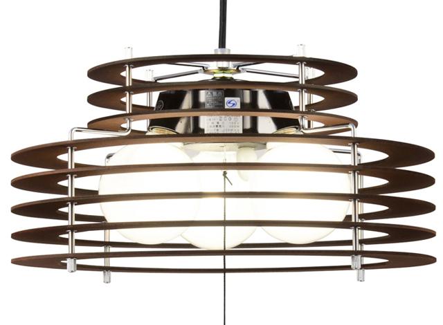 木製シェード 天井照明