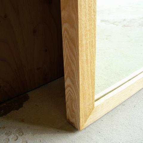 姿見ミラー 無垢材 木枠