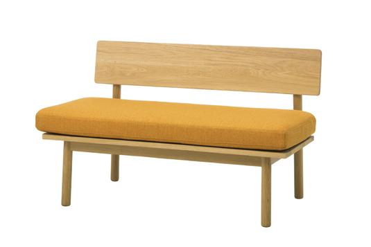 2人掛け木枠ソファ カバー洗濯可能