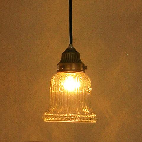 ガラスシェード照明ベル型