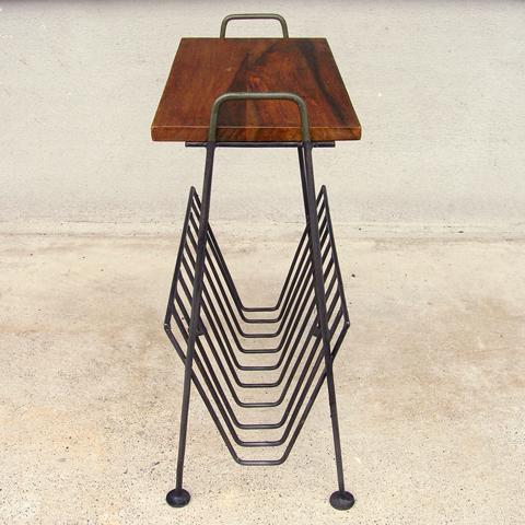 マガジンラック付きテーブル 鉄脚