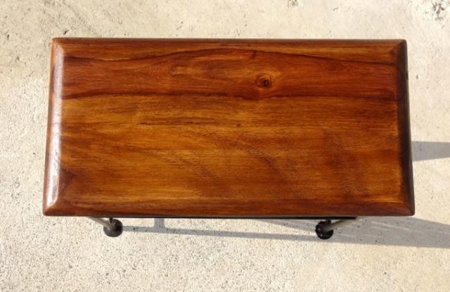 テーブル付きマガジンラック 木天板