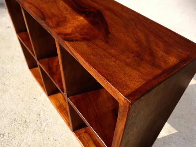 木製CDラック 6ます