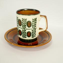 tw0246ベルギーBOCHカップ&ソーサー*amber design*北欧家具やビンテージ雑貨等のインテリア通販