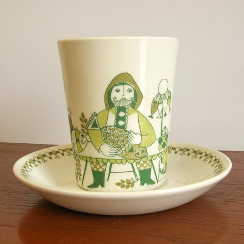 北欧アンティーク陶器フィッギオ