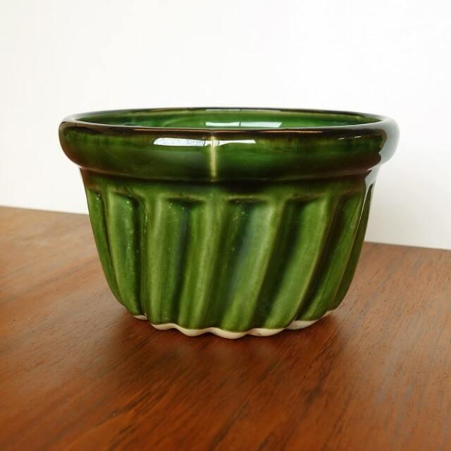 ヴィンテージ陶器プリンモールド