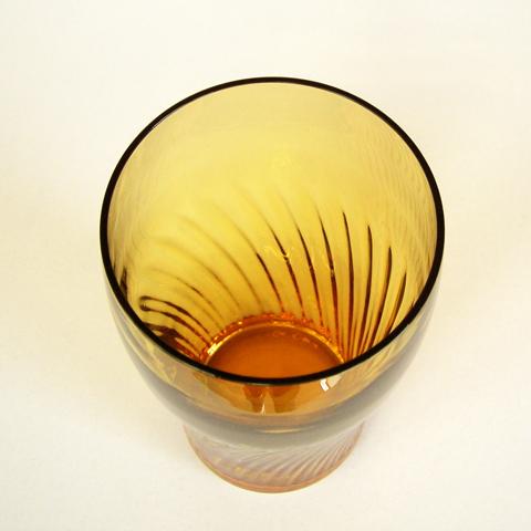 アンバーガラス コップ