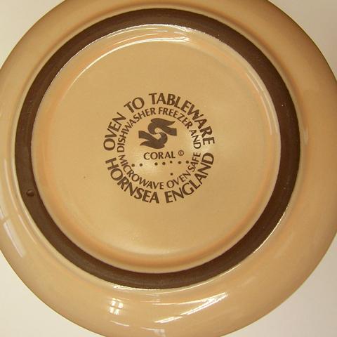 Hornsea食器 刻印