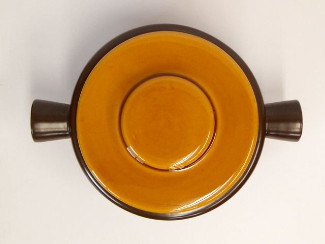 ビンテージ陶器キャセロール鍋