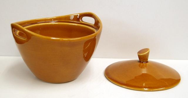 ビンテージ食器 シュガーポット ブラウン
