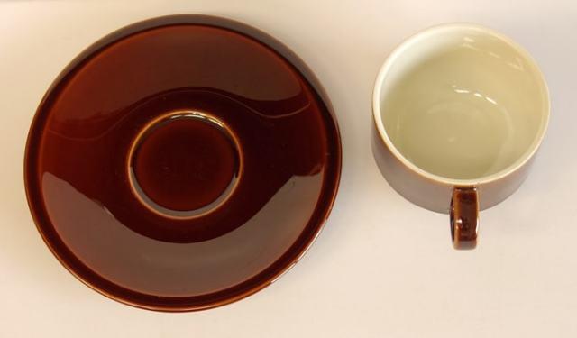Villeroy&Bochカップ&ソーサー ビンテージブラウン