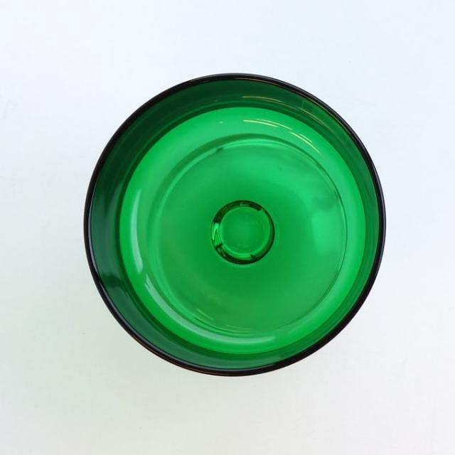 グリーンのガラスシャーベットグラス表面
