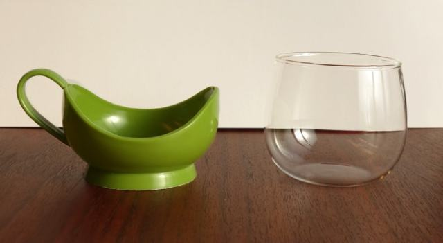 耐熱ガラスのカップは取り外し可能 Melitta製