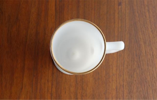 ヴィンテージ ミルクグラスマグ 内側