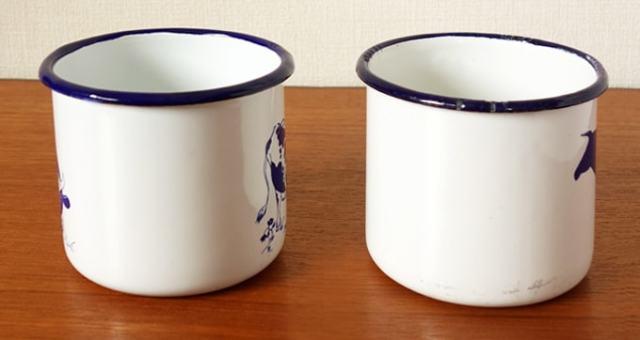 ホーローのマグカップ 2個セット