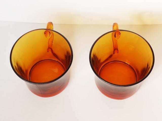 アンバーガラスカップ フランス製