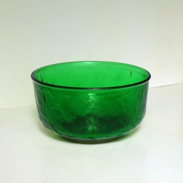 ビンテージガラスボウル緑