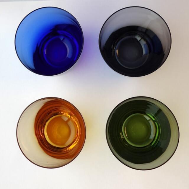 カラーグラス 青・グレー・グリーン・アンバー