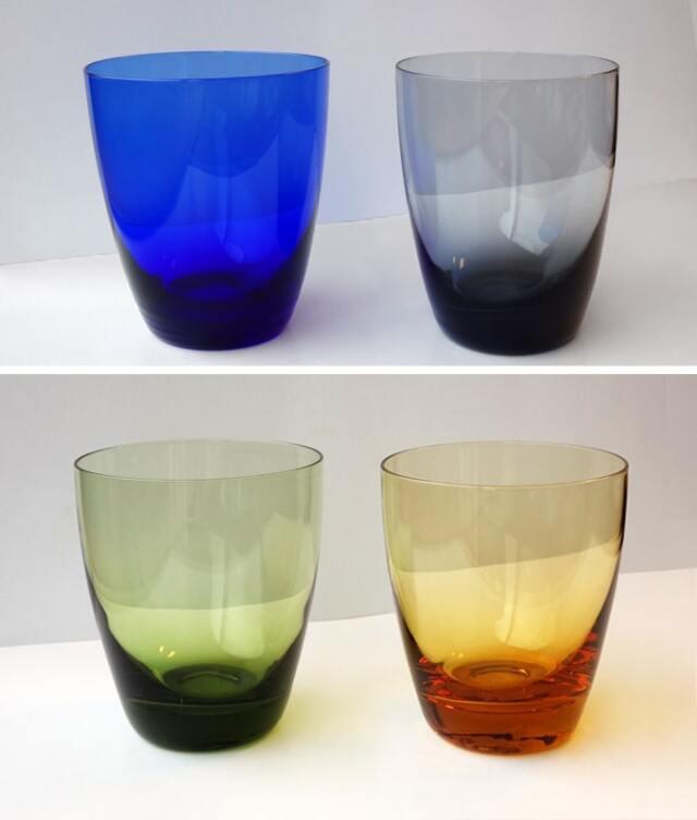 ヴィンテージのレモネードグラス 4色タンブラー