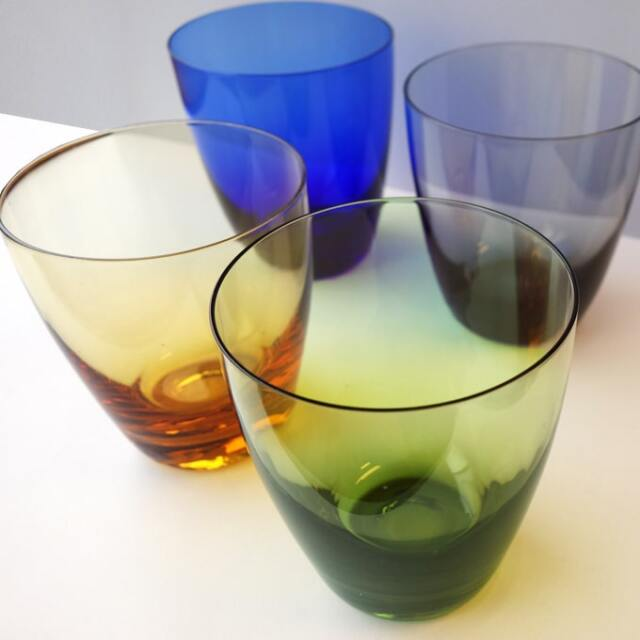 ヴィンテージタンブラー カラーガラス