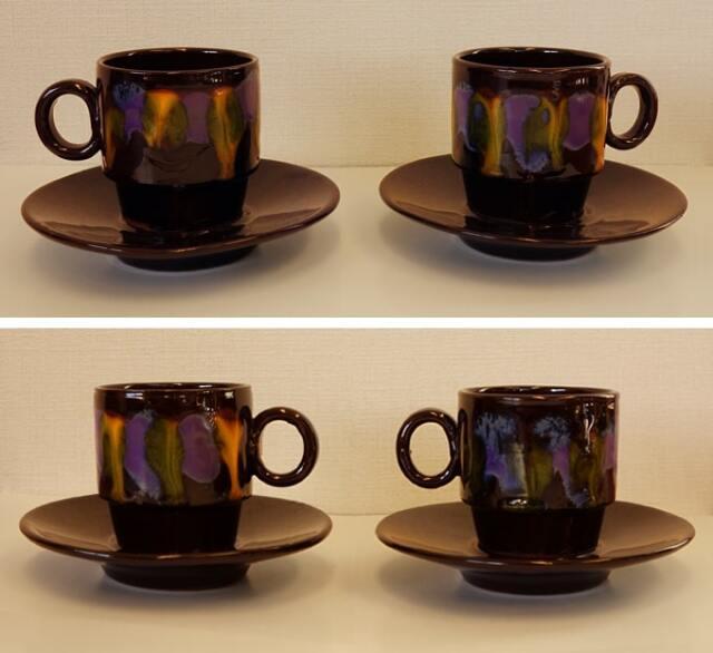 ヴィンテージ陶器コーヒーカップ2客セット