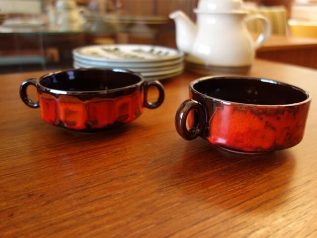 ヴィンテージのカップスープ2個セット