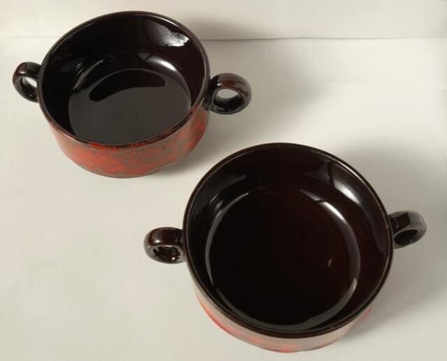 両手付きスープカップ アンティーク食器
