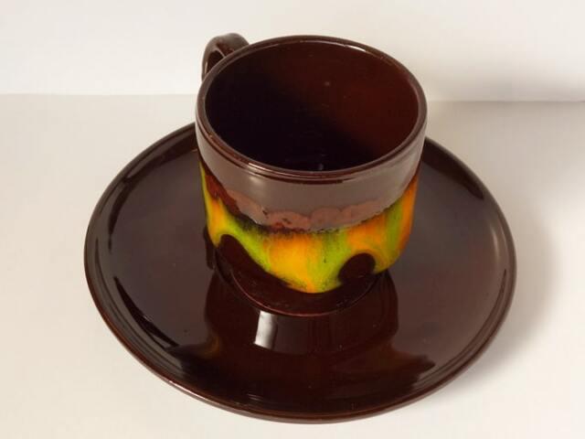 ビンテージのコーヒーカップ 黒
