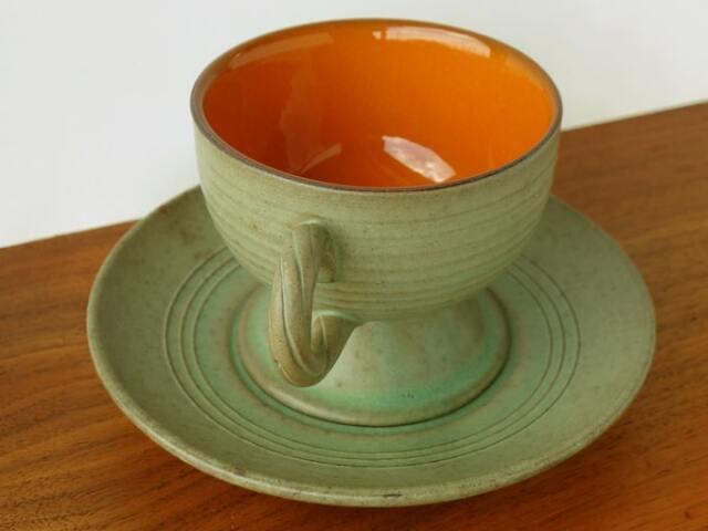 陶器カップ&ソーサー アンティーク