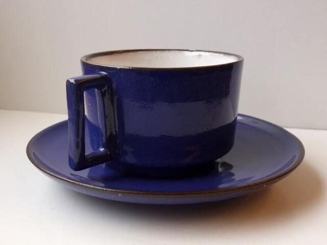 青いカップ&ソーサー ヴィンテージ