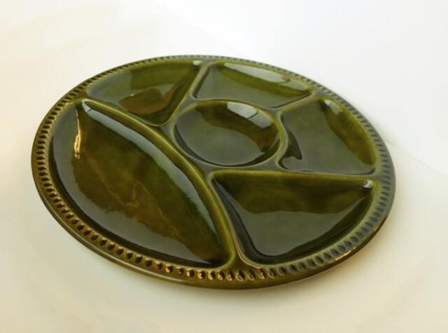 6つに仕切った皿 アンティーク食器