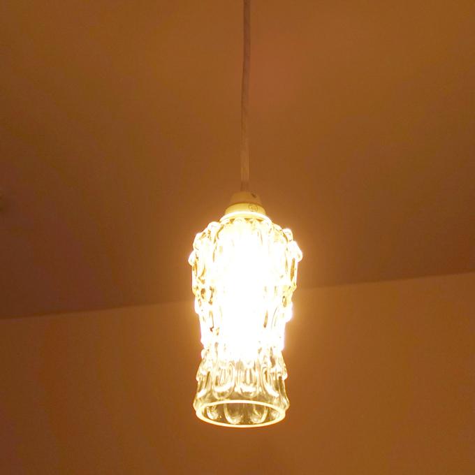 ビンテージのガラスペンダントライト