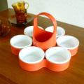 ac0105イギリス製DIALENE BETTER MAID レトロなオレンジ色のスナックトレー *amber design*北欧家具やビンテージ雑貨等のインテリア通販