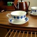 tw0170 フランスアンティーク L Amandinoiseのスープ皿 *amber design*北欧中古家具やビンテージ雑貨等のインテリア通販