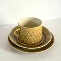 tw0259デンマークKRONJYDEN製Relief コーヒーカップ&ケーキ皿Jens H Quistgaard